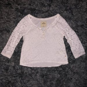 5/$20 Hollister size xs white lace top